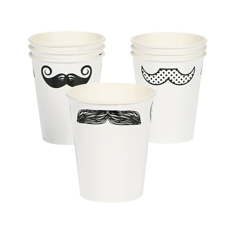 Mustache Party Cups (also napkins and plates)  {OrientalTrading}