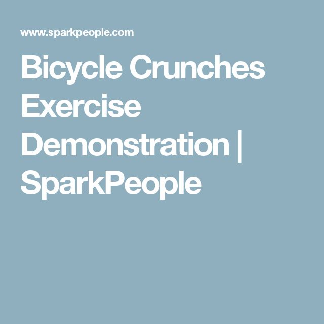 Bicycle Crunches Exercise Demonstration   SparkPeople