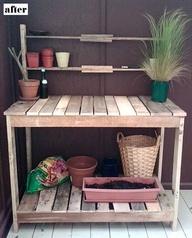 pallet potting benches | Pallet Potting Bench
