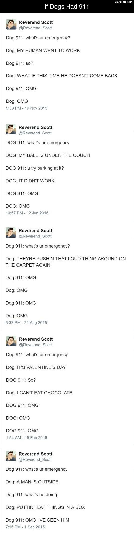 If dogs had 911 - 9GAG