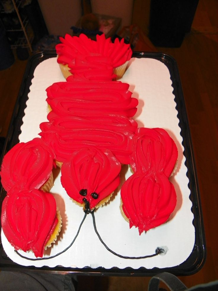 cupcakes shaped like lobster - Google Search
