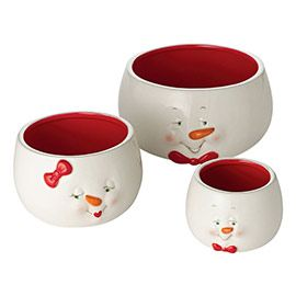 """Department 56: Products - """"Snowman Nested Bowl, St/3"""" - View Products"""
