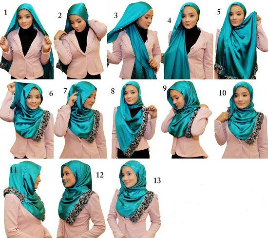 New Hijab Tutorial Pictures Simple Daily Wear Styles  445fb43f3db91ab0b1ae9852b5ccf393