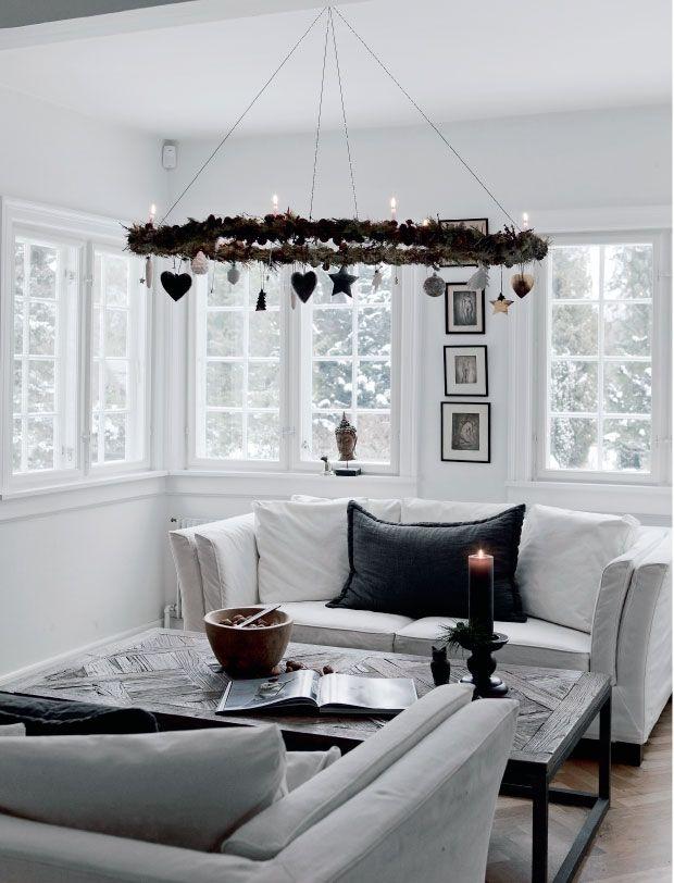 Un Noêl nordique en noir et blanc