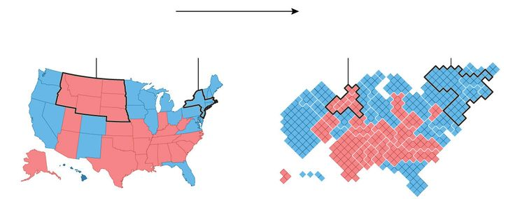 In 2012, 160 counties cast about the same number of votes as the rest of the country. But, your run-of-the-mill election map won't show you that.