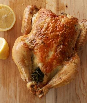 Rosemary, Lemon, and Garlic Chicken Recipe: Food Recipes, Garlic Chicken Recipes, Baking Chicken Recipes, Lemon Chicken, Roasted Chicken, Lemon Garlic, Garlic Roasted, Easy Recipes, Real Simple