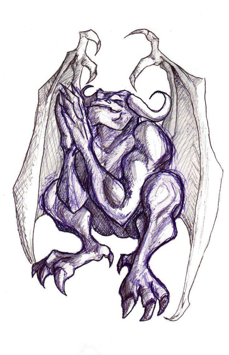 Gargoyle Drawings Related Keywords & Suggestions