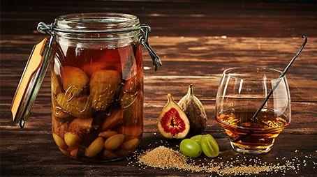 Rhum arrangé figues, raisins, vanille