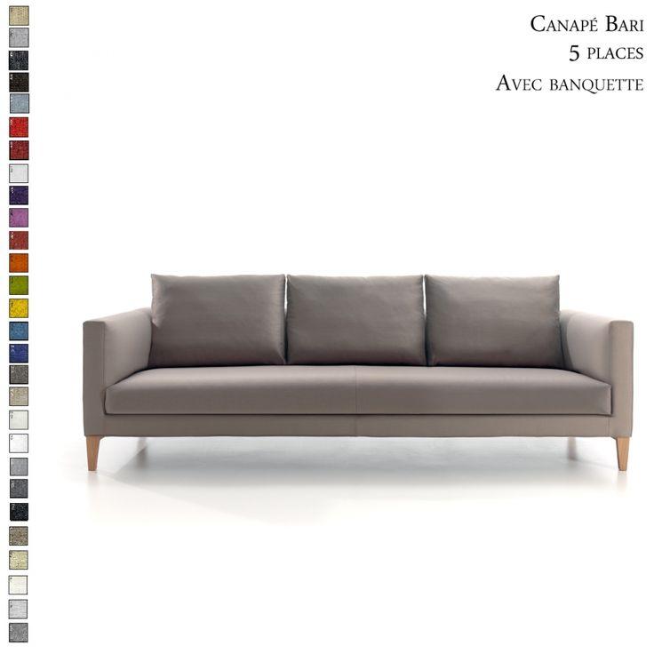 Découvrez le canapé Bari avec banquette 2 à 5 places personnalisable par Inspiration Luxe. Livraison en France et en Europe.  #canapé #déco #confort