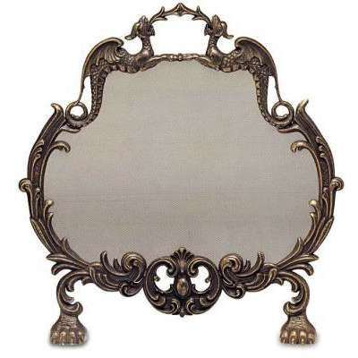 Victorian Fireplace Screen.  Used one similar to this for a jewelry holder.  Earrings on the screen and necklaces hanging on the curliques.