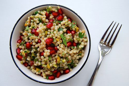 Giant Israeli Couscous with Pomegranate & Pistacho