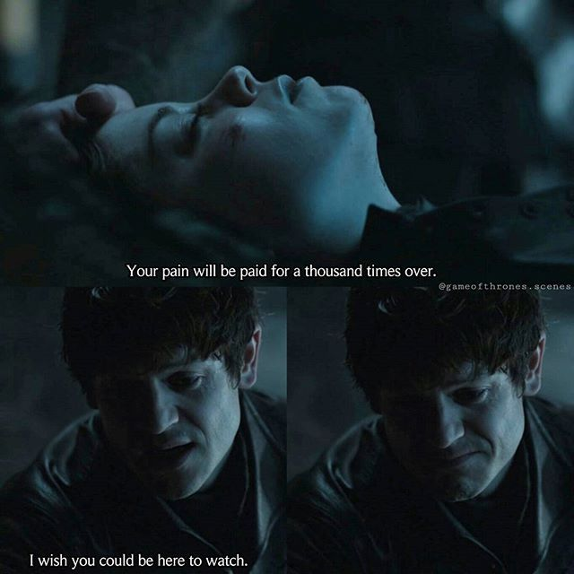 "Apperently - on some point - Ramsay has a little soft spot in his heart. At least he had for Myranda. Somehow...  --- After Ramsay returned from the battlefield, the news he received were not as good as he expected. His wife Sansa and his toy Reek escaped. As if that wasn't bad enough, his ""soulmate"" Myranda was dead. Murdered. He might has won this battle... but he seems to lose this war. --- #ramsaybolton #iwanrheon #myranda #charlottehope #gameofthrones"
