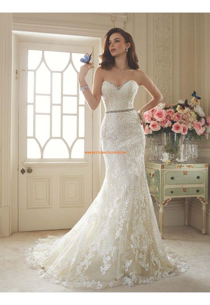 ... Meerjungfrau Wunderschöne Brautkleider aus Softnetz mit Applikation