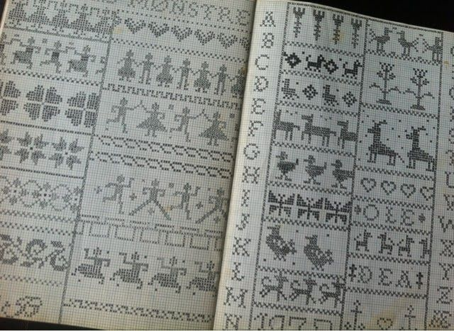 by GJ: Gamle håndarbejdsbøger
