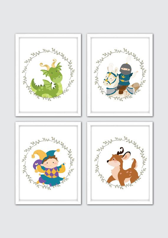 Fairy Tale Nursery Art Prints Baby Boy Nursery by RomeCreations                                                                                                                                                     More