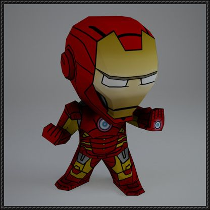 Marvel Comics - Chibi Iron Man Free Papercraft Download - http://www.papercraftsquare.com/marvel-comics-chibi-iron-man-free-papercraft-download.html