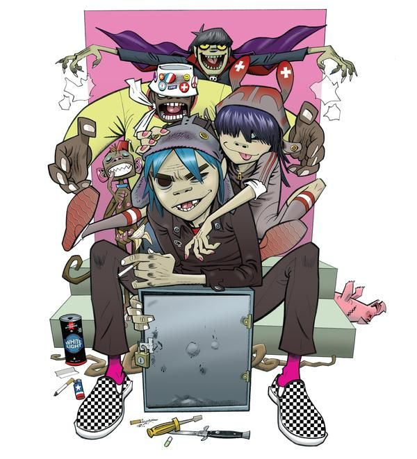 how to make a gorillaz anim