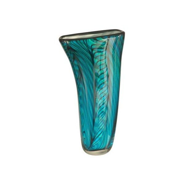 Dale Tiffany AV11094 Loyola Art Glass Vase with Hand Blown Art Glass ($130) ❤ liked on Polyvore featuring home, home decor, vases, accents, glass, art glass home decor, hand blown art glass vase, dale tiffany, art glass vase and dale tiffany vase