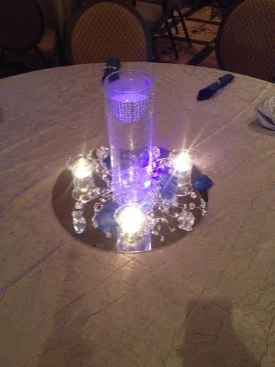 Silver Centerpiece Royal Blue And Blue And On Pinterest