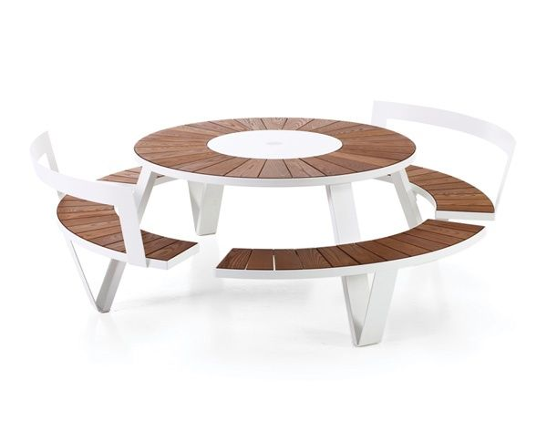 Extremis - Pantagruel - table - seat - back rest - picknick - wood - steel - outdoor - furniture