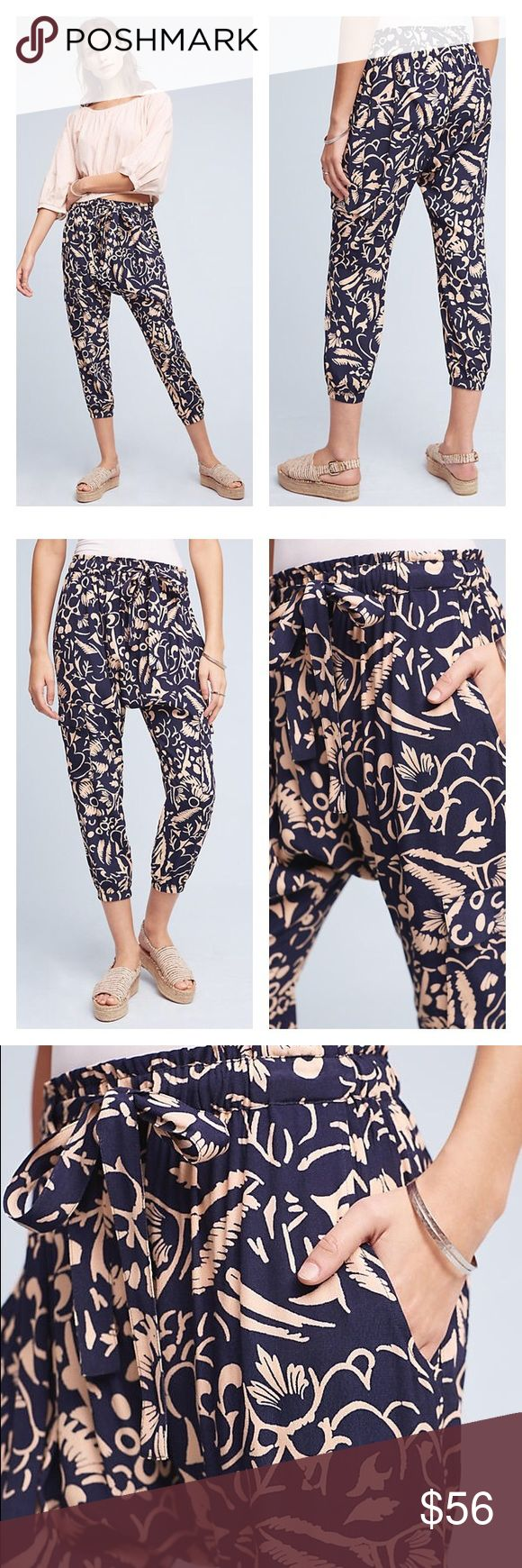 "Anthropologie Harem Pants Loosely defined cargo joggers crafted from super-soft materials in a printed design. Exceptional pants! Perfect brand new condition, never worn.  ☀️️Viscose ☀️️Drop rise ☀️️Front slant, back patch pockets ☀️️Pull-on styling ☀️️Hand wash ☀️️By Hei Hei ☀️️24"" inseam Anthropologie Pants Track Pants & Joggers"