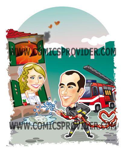 Un amore che arde il cuore e non solo!Fortuna che lo sposo è un Pompiere!