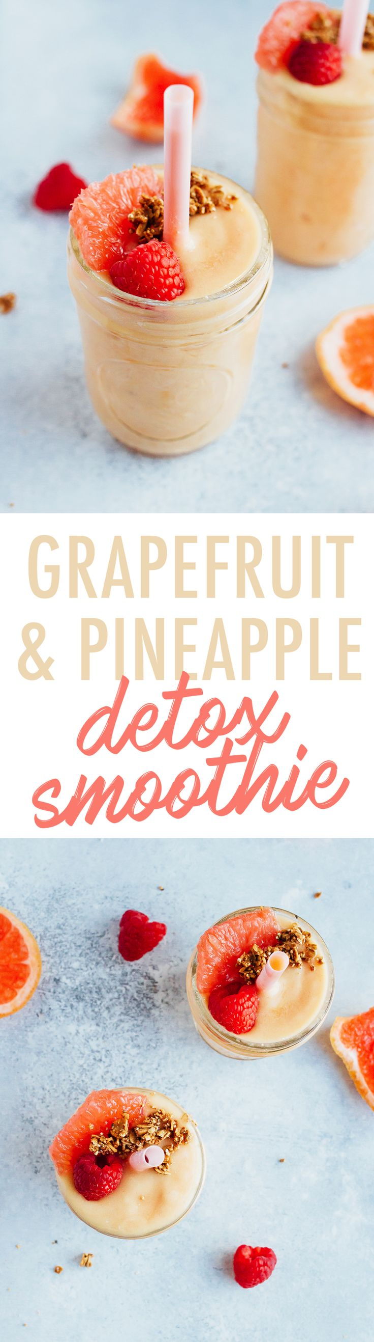 Banish bloating and boost your metabolism with this delicious Grapefruit Pineapple DETOX Smoothie