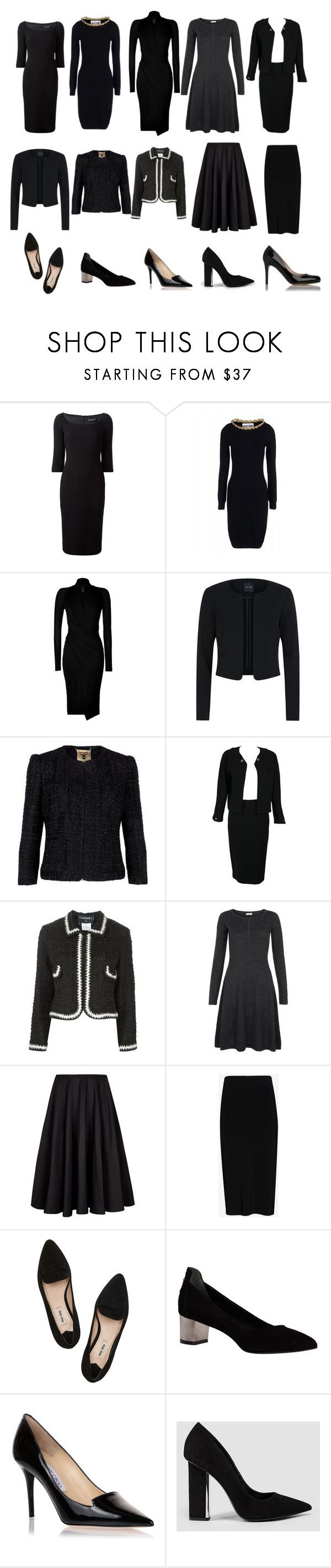 """""""Mellie Grant's Funeral Attire"""" by oliviapope411 ❤ liked on Polyvore featuring Dolce&Gabbana, Moschino, Donna Karan, Ted Baker, Chanel, Hobbs, rag & bone, Miu Miu, Comptoir Des Cotonniers and Jimmy Choo"""