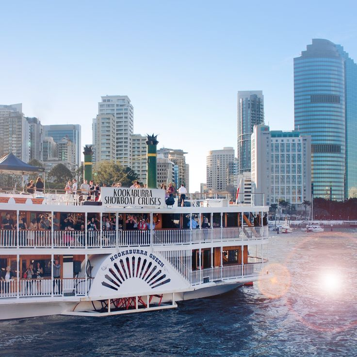 The beautiful Kookaburra Queen cruising down the Brisbane River. Book now to experience the best views of Brisbane City. #brisbaneriver #kookaburraqueen #functions #venue #brisbane #event #water #boat #cruise #lights #pretty #city #weddings #functions #events #dinner #lunch #hightea #paddlewheeler