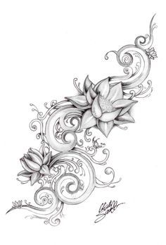 Lotus+Flower+Drawings+For+Tattoos | lotus river by ~Gsaw on deviantART