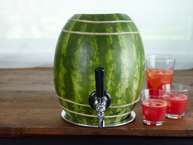 Cute! How to Make a Watermelon Keg by watermelon.org: Genius! Chill it in the refrigerator ahead of time and keep your favorite punch or juice cool for your guests!  #Keg #Watermelon_Keg #watermelon.com