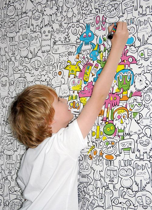 Color In Wallpaper by Jon Burgerman