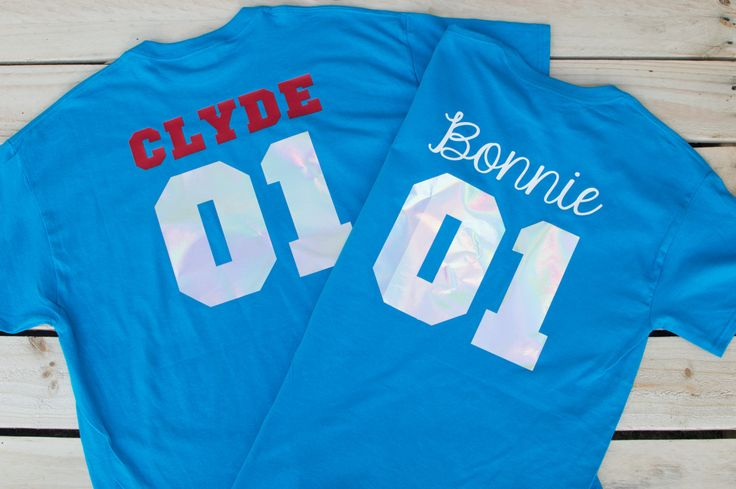 Bonnie Clyde Set Cute Couple Shirt Couples T Shirt Engagement Gift Matching Shirt for Couple T-shirts Set Parchen T-Shirts Wedding Gift by MirrorMeFashion on Etsy