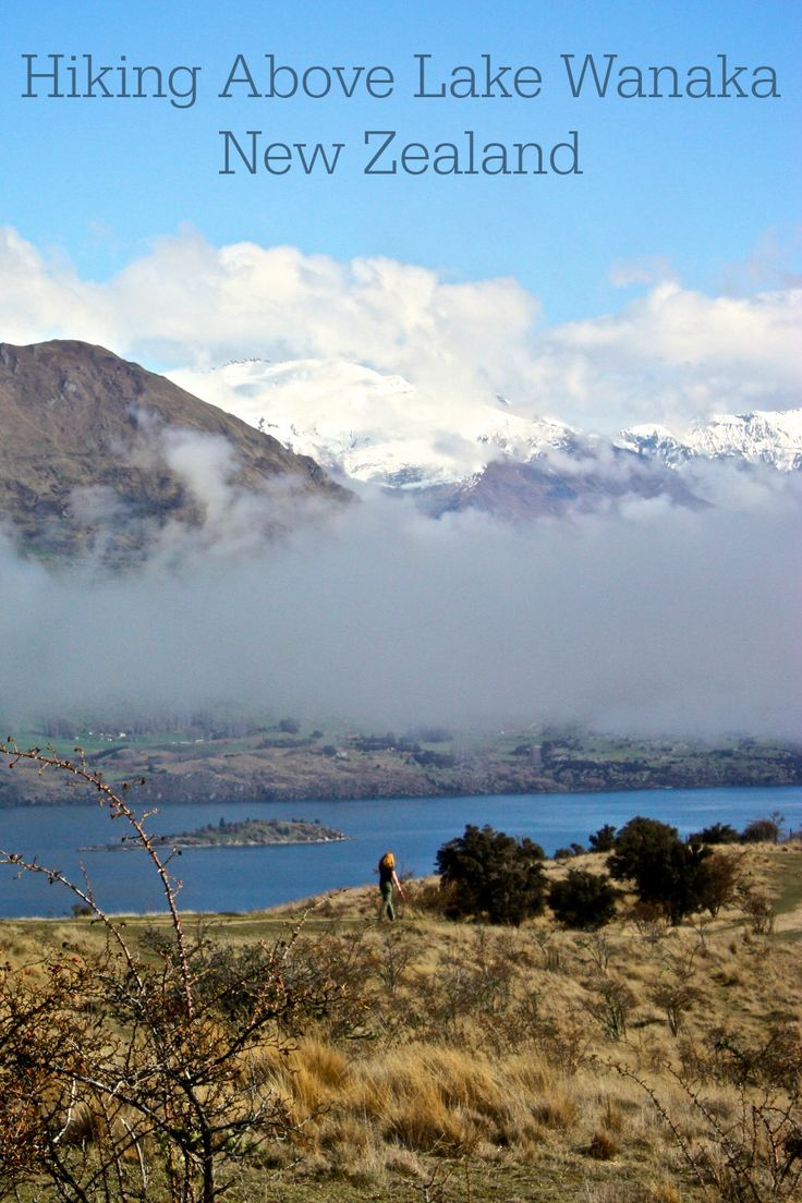 View of Lake Wanaka from Mount Iron in Wanaka New Zealand