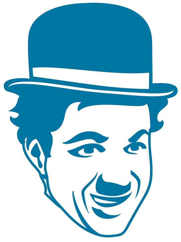 Sticker Charlie Chaplin 01
