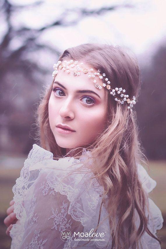Bridal Headpiece Wedding Hair accessory Bridal by MoaLove