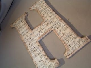 Diy monogram sheet music letters. Totally doing this as a Christmas present!! Love this idea!!!