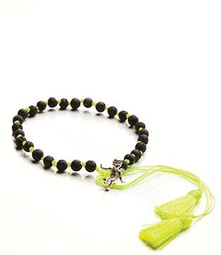 $40 fluro yellow lava bracelet