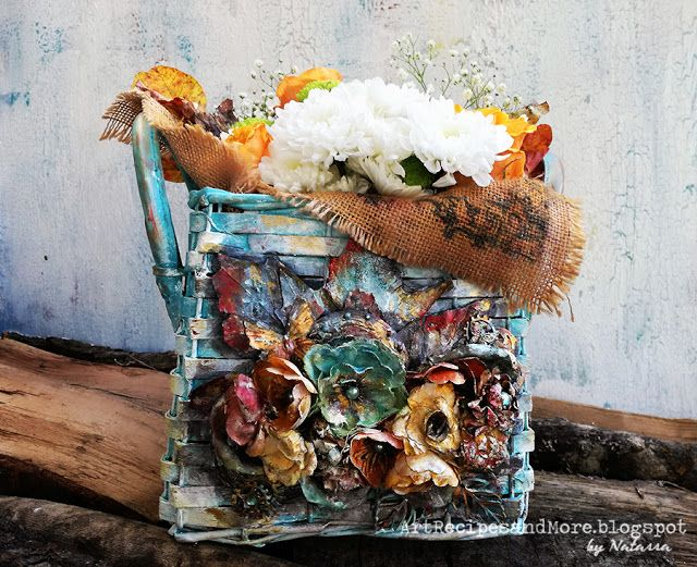 Art Recipes and More: Flower Basket Upcycling