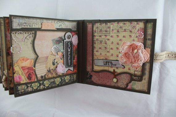 6x6 Romance Novel Scrapbook Mini-Album PDF Tutorial by SoMuchScrap