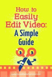 Whether youre publishing video to your vlog, blog, or social media, editing your footage helps you present a consistent experience to your viewers.In this article, youlldiscover how to edit your video content with a free tool so you dont break your