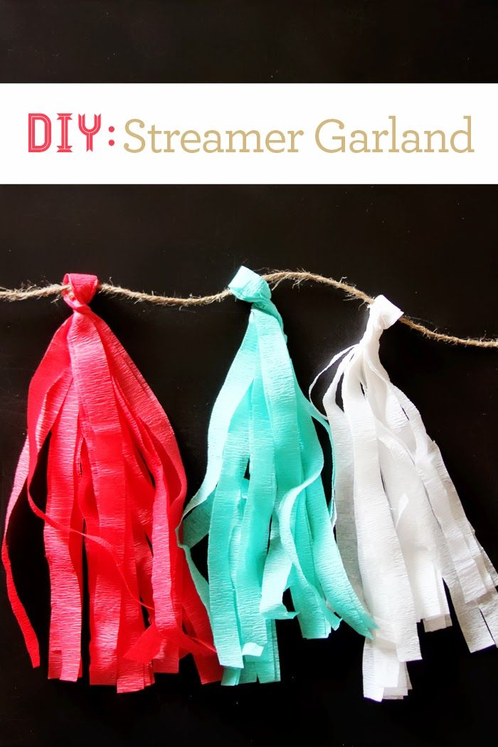 This cost-efficient #DIY Streamer Garland also makes great colorful decorations to accompany any summer party! #summer #crepepaper