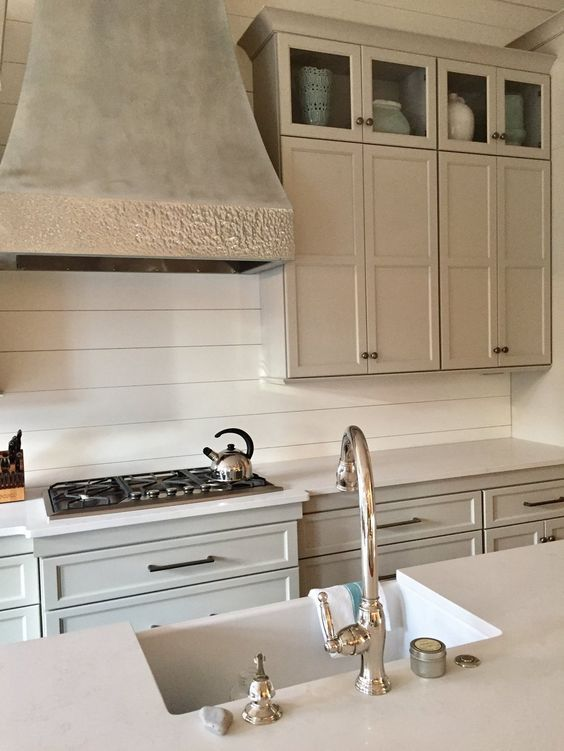 give your kitchen another reason to pop shiplap makes a great rh pinterest es