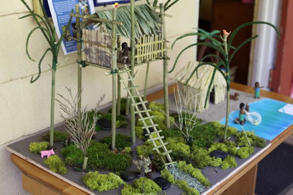 waldorf dwellings projects | waldorf 3rd grade house building projects stilt house waldorf inspired ...