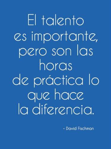 El talento es importante pero son las horas de práctica lo que hace la diferencia