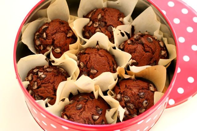 Queques de Chocolate // Chocolate Muffins