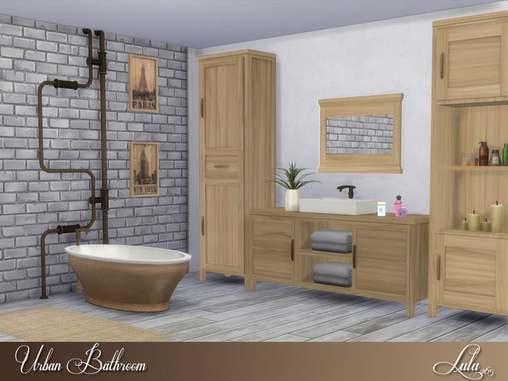 This Bathroom Is Perfect For A Small Loft Corner. Found In TSR Category U0027 Sims