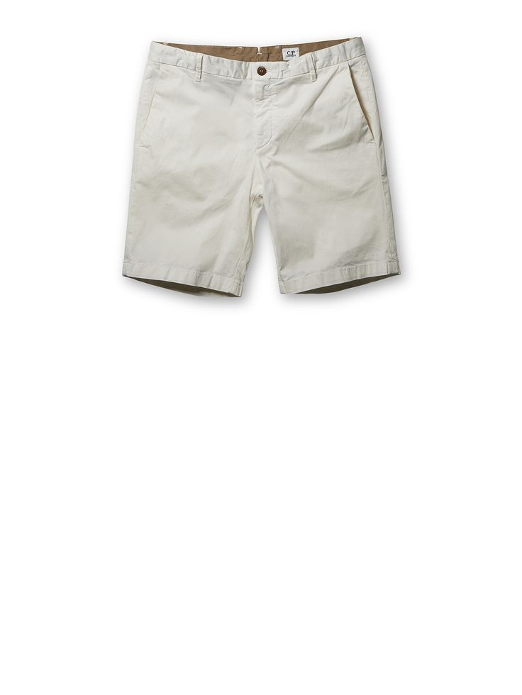 C.P. Company Stretch Ottoman Shorts in Natural