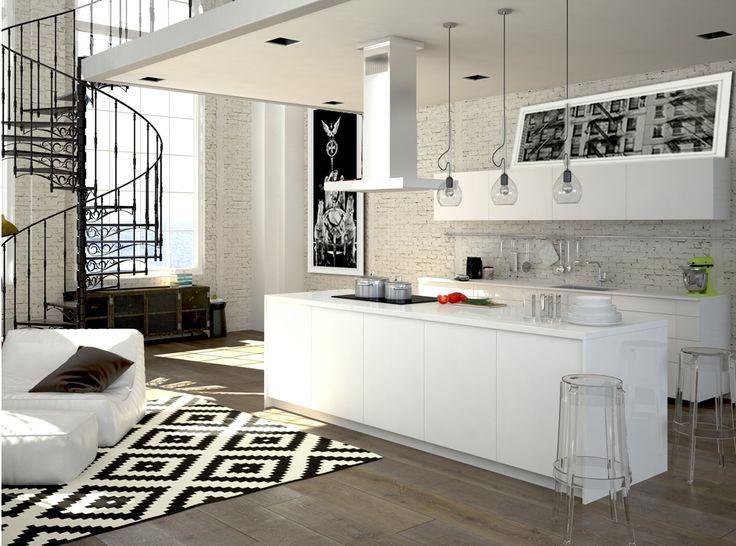 obrazy na ścianę czarno białe styl industrialny do kuchni