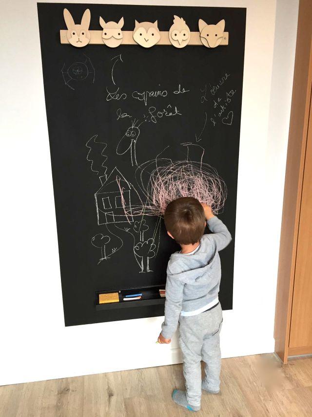 Réaliser un tableau mural en ardoise: un jeu d'enfant! Allez, venez je vous donne le mode d'emploi.